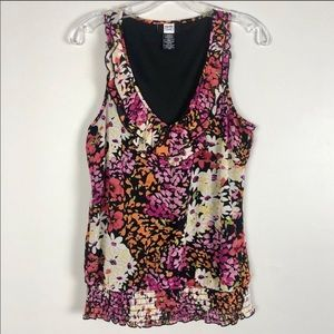 Studio 1940 Floral Sleeveless Top Small